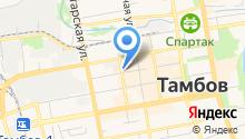 Автостоянка на Красной на карте