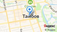 Управление Министерства юстиции РФ по Тамбовской области на карте