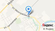 Автомойка на ул. Монтажников на карте