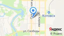 Магазин спортивных товаров на Октябрьской на карте