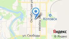 Магазин товаров для детей на ул. Котовского на карте
