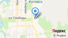 Городская больница г. Котовска на карте