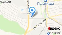 АЗС в Восточном переулке на карте