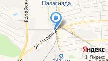 Магазин автозапчастей на ул. Гагарина на карте