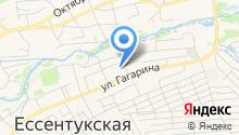 Ставропольский учебный центр, НП на карте