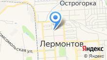 Управление Пенсионного Фонда РФ по г. Лермонтову на карте