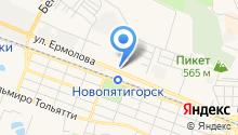ДЭФО-Пятигорск на карте