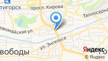Tez-tour на карте