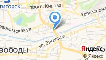 Золотой глобус путешествий КМВ на карте