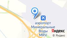 Международный аэропорт Минеральные Воды на карте