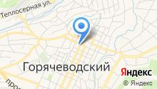 Горячеводское агентство недвижимости и юридических услуг на карте