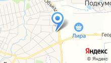 Аделика на карте