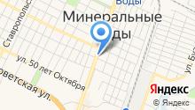 Фаэтон КМВ на карте