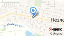 Средняя общеобразовательная школа №13 станицы Незлобной на карте