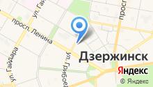 Дзержинский на карте