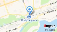 Железнодорожный вокзал г. Дзержинска на карте