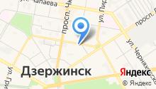 Городская больница №1 г. Дзержинска на карте