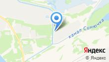 Дзержинское на карте