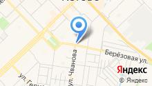 Магазин канцтоваров на ул. Чванова на карте