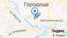 Городищенская центральная районная больница на карте
