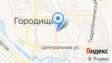 Центр социальной защиты населения по Городищенскому району на карте