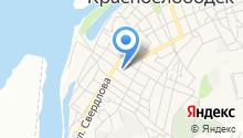 Краснослободская городская поликлиника на карте