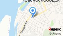 Краснослободская детская поликлиника на карте