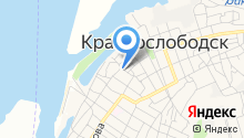 Гимназия г. Краснослободска на карте