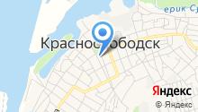 Краснослободская городская библиотека на карте