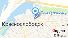 Краснослободская детская библиотека на карте