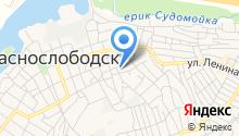 Открытая (сменная) общеобразовательная школа г. Краснослободска на карте