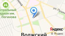 Банкомат, Московский Индустриальный Банк, Волгоградский филиал на карте