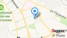 Баня на Молодежной на карте