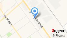 Автостоянка на ул. Пушкина на карте
