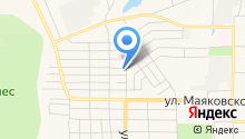 Магазин хозтоваров на ул. Луначарского на карте
