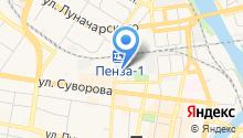 Пензенское агентство фирменного транспортного обслуживания на карте