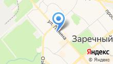 Информационно-библиотечное объединение г. Заречный на карте