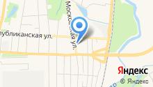 Автосервис на Московской на карте