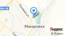 Макаровский на карте