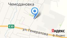 Почтовое отделение Чемодановка на карте