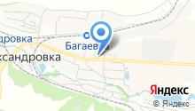 Продуктовый магазин в Мирном переулке на карте