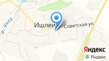 Ишлейская средняя общеобразовательная школа на карте