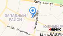 Деревенский дворик на карте