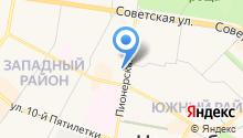 Сеть автомагазинов на карте