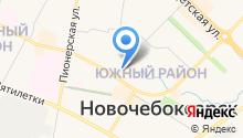 Автостоянка на ул. Винокурова на карте