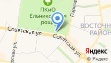 Ельниковская роща на карте
