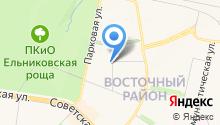 Сеть фирменных магазинов на карте