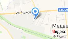 Медведевский автолюбитель на карте