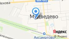 Медведевское районное потребительское общество, ПК на карте