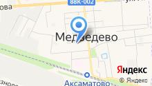 Медведевское районное потребительское общество на карте